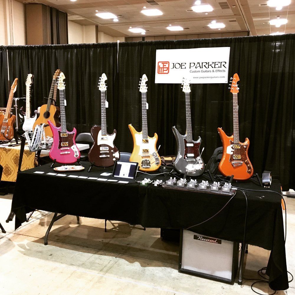 The table at Tacoma Guitar Festival