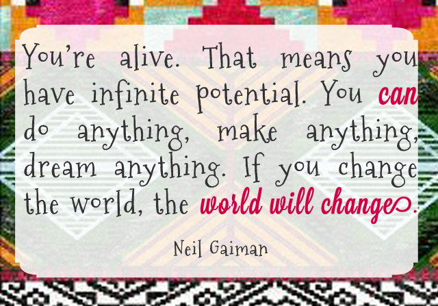 You can change the world quotation