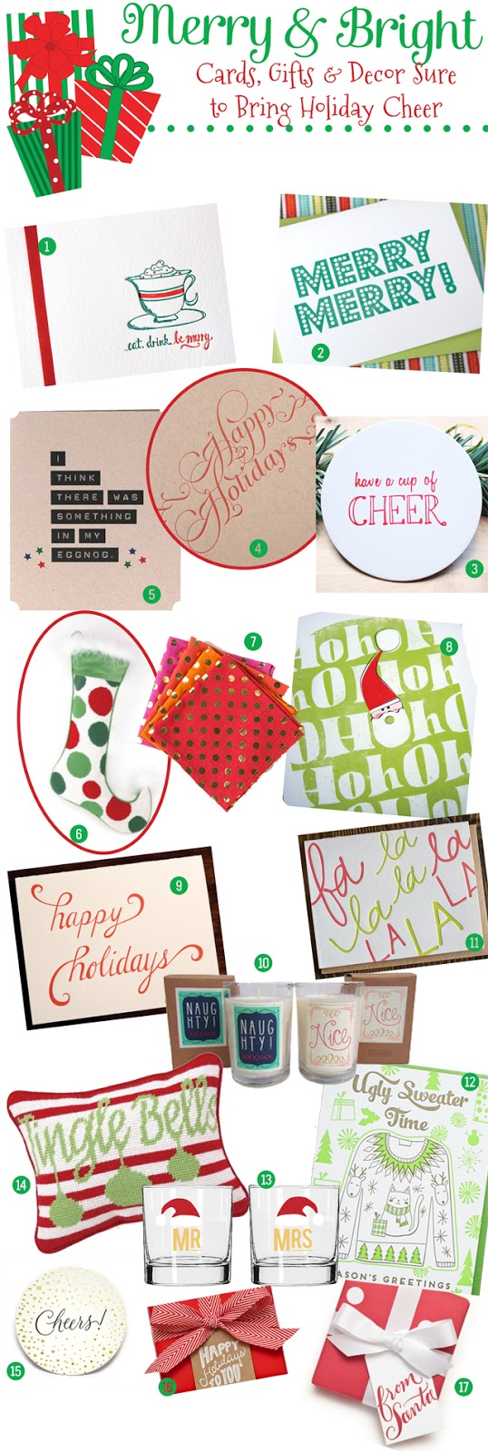 Holiday Spirit, Must-Haves, Merry and Bright, 2012