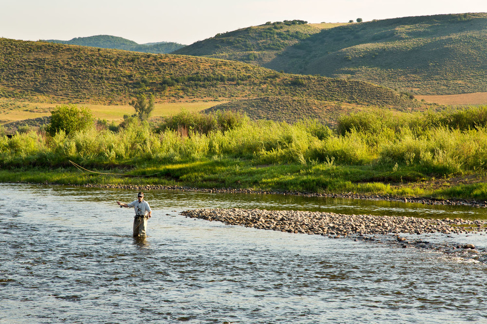 Lifestyle: Peter Sheetz fly fishing on the Yampa River near Steamboat, Colorado