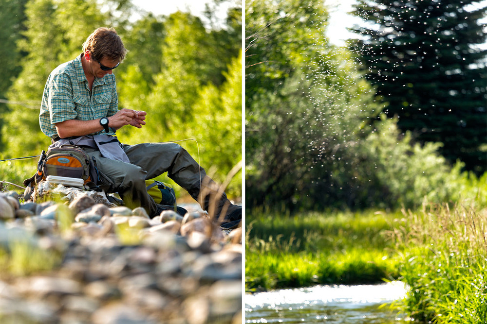 Lifestyle: Christopher Solomon fly fishing on the Little Snake River, Colorado