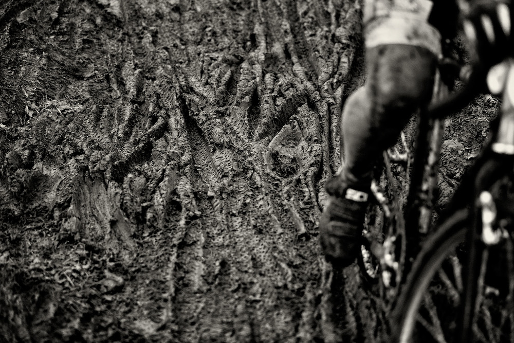 cyclocross racing in the mud, marymoor park, redmond