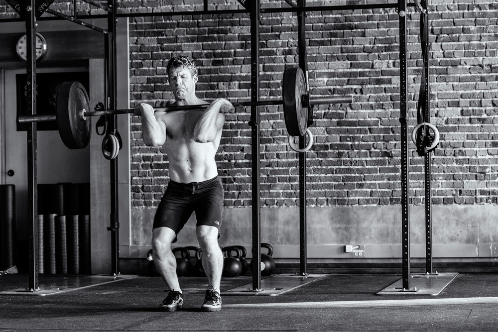 Fitness: Michael Hildebrand lifting in a crossfit gym, Seattle