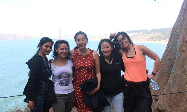 F/ LEFT TO RIGHT: CATHERINE LAGMAN, BELÉN CEBALLOS, ME, SOOJUNG CHANG, MEGAN KENNEDY