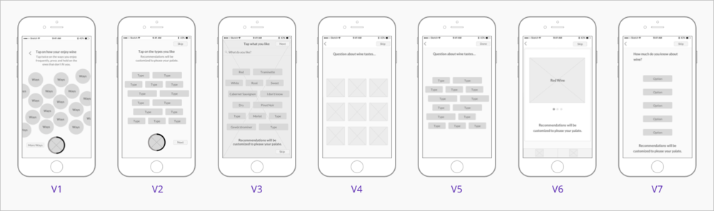 ONBOARDING: Wireframe