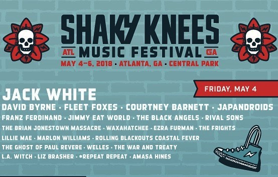 Today's the day! Very excited to  be back in Atlanta playing @shakykneesfest with the likes of @jackwhiterocks @fleetfoxes  @davidbyrneofficial @courtneymelba and more! We hit the Criminal Records stage at 3:15  #springtour2018 #ghostofpaulrevere #goghostgo