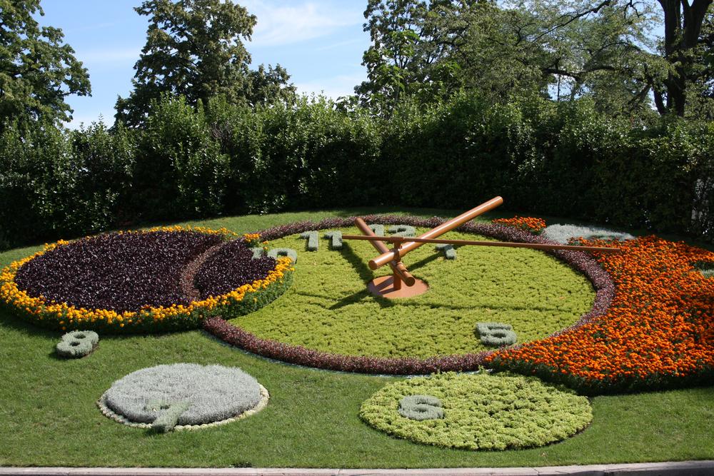 Flower clock in Geneve (© Geneve Tourism)