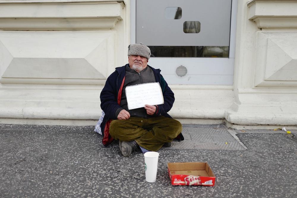 begging in Salzberg