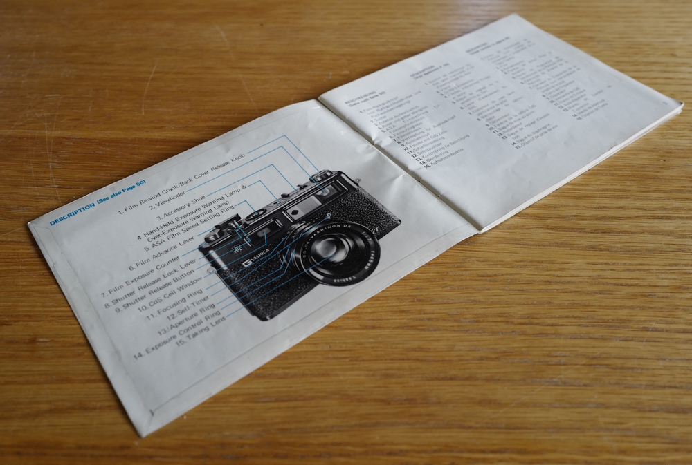 Yashica booklet