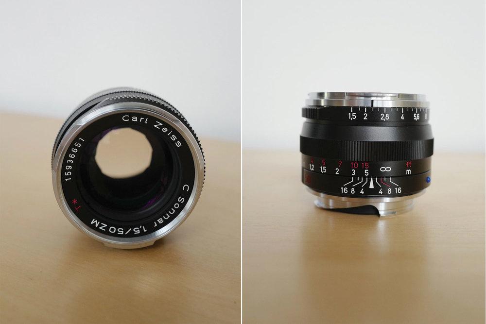 Carl Zeiss 50mm lens