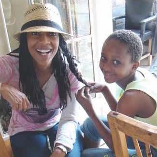 Casandra (L) with Amandine from Burundi.