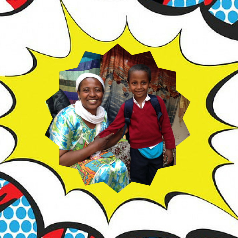 Abeba* is now able to run her own coffee shop and her son receives tutoring and school supplies from the program.