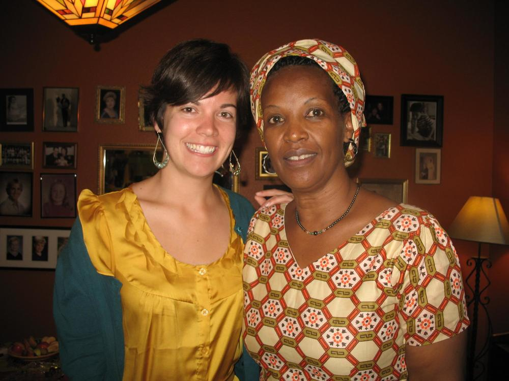 Caitlin with Tirzah's Regional Leader from Burundi, Peace Nihorimbere.