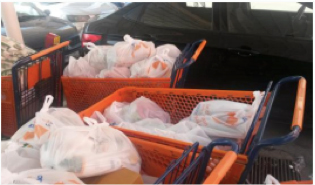 Groceries for refugees via our partner AWEMA