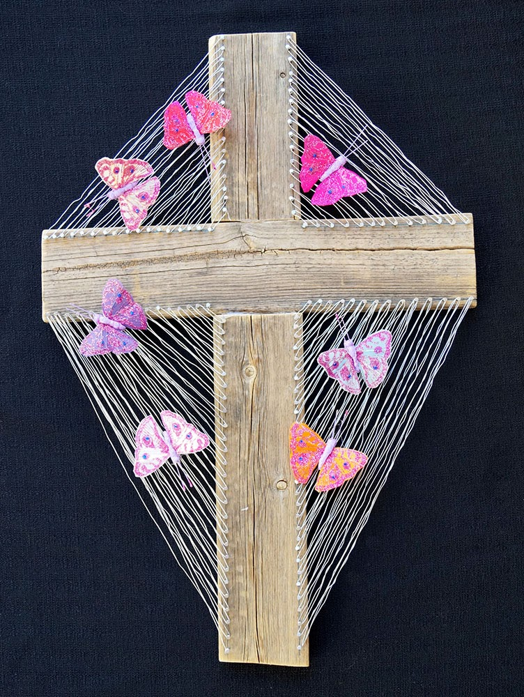 Wired Butterfly Cross
