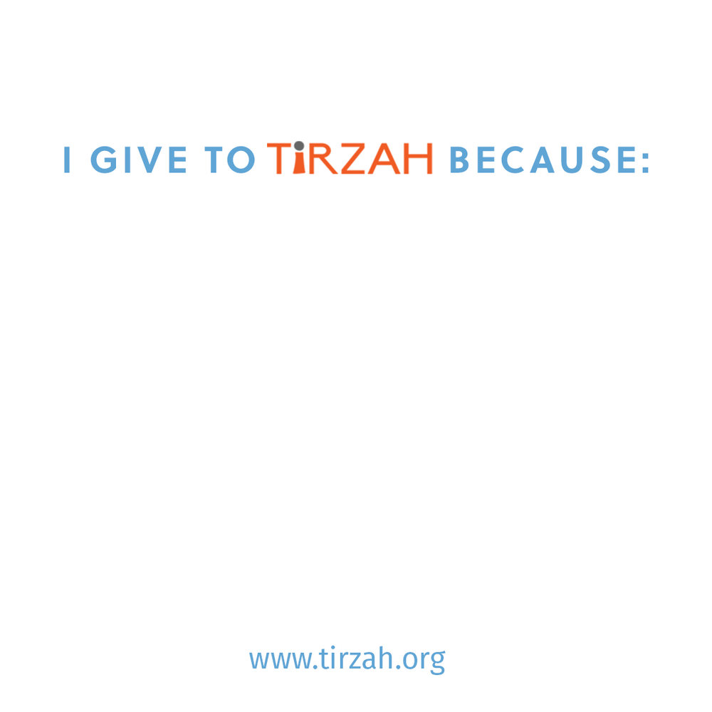 #unselfie - Click here and save this image to print and fill in your own version of the template for why you give to Tirzah!Share it on social media and tag @tirzahintl in your #unselfie