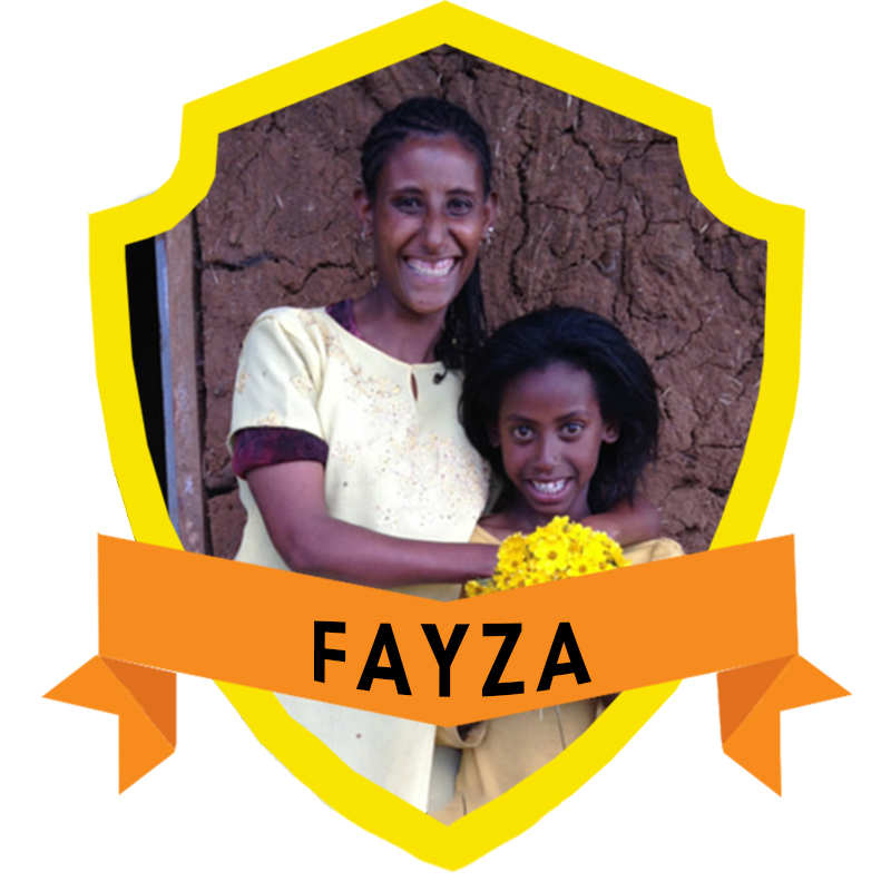Fayza* is an energetic entrepreneur who sells eggs, makes the Ethiopian Injera bread and grows her own vegetables to support herself and her daughter. Her daughter, Qali*, told us she wants to be a doctor when she grows up!