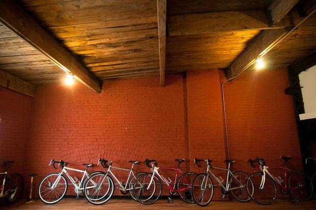 bikes on wall.JPG