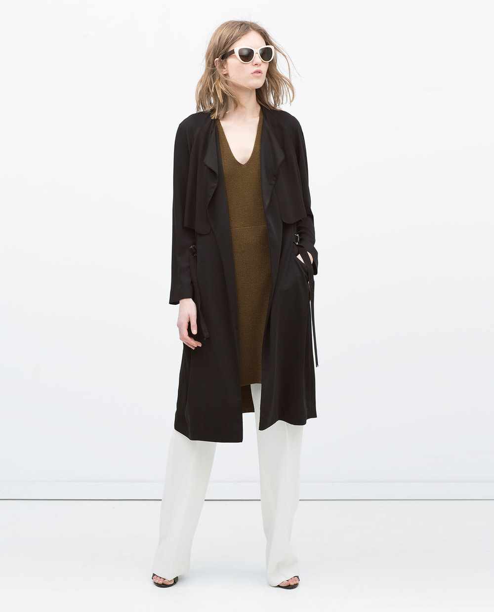 DRAPEY LONG RAINCOAT 69.99 USD