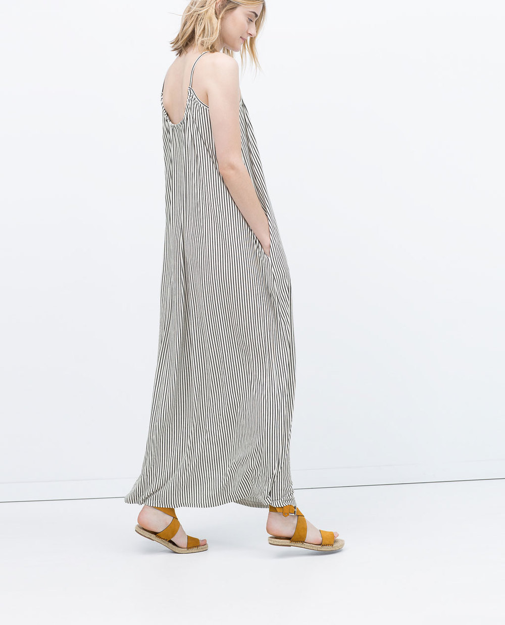 LONG STRIPPED DRESS 29.99 USD