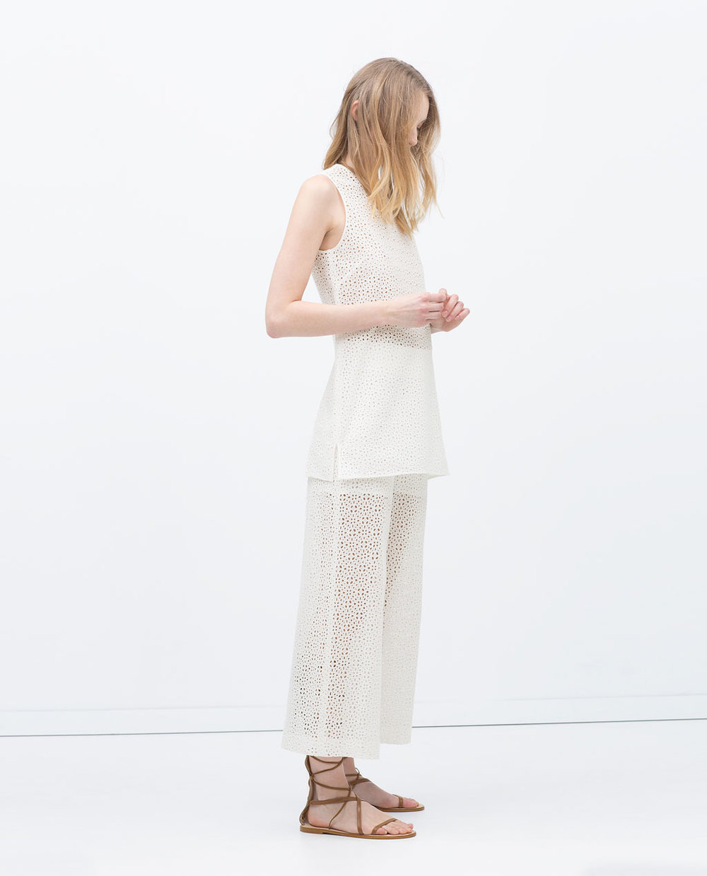 EMBROIDERED TUNIC TOP 49.99 USD