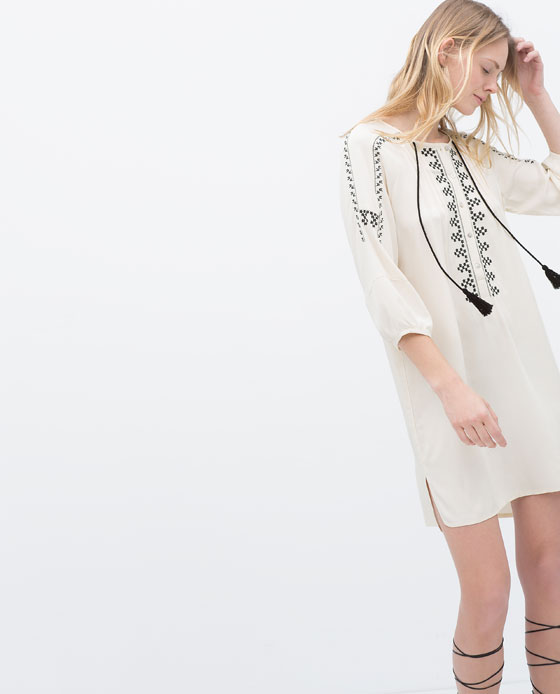 EMBROIDERED TUNIC DRESS 39.99 USD