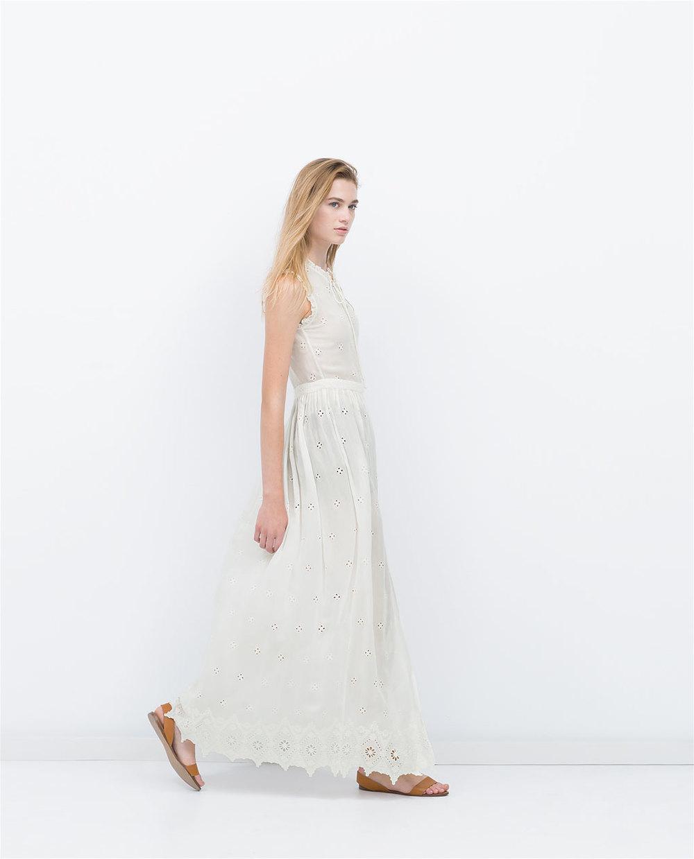 EYELET DRESS 49.99 USD