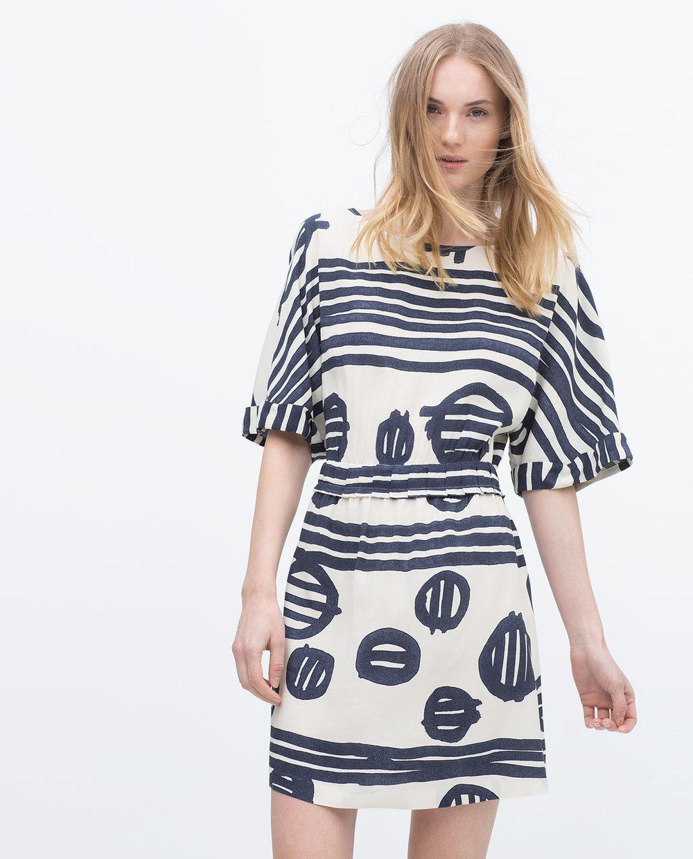 PRINT DRESS 49.99 USD