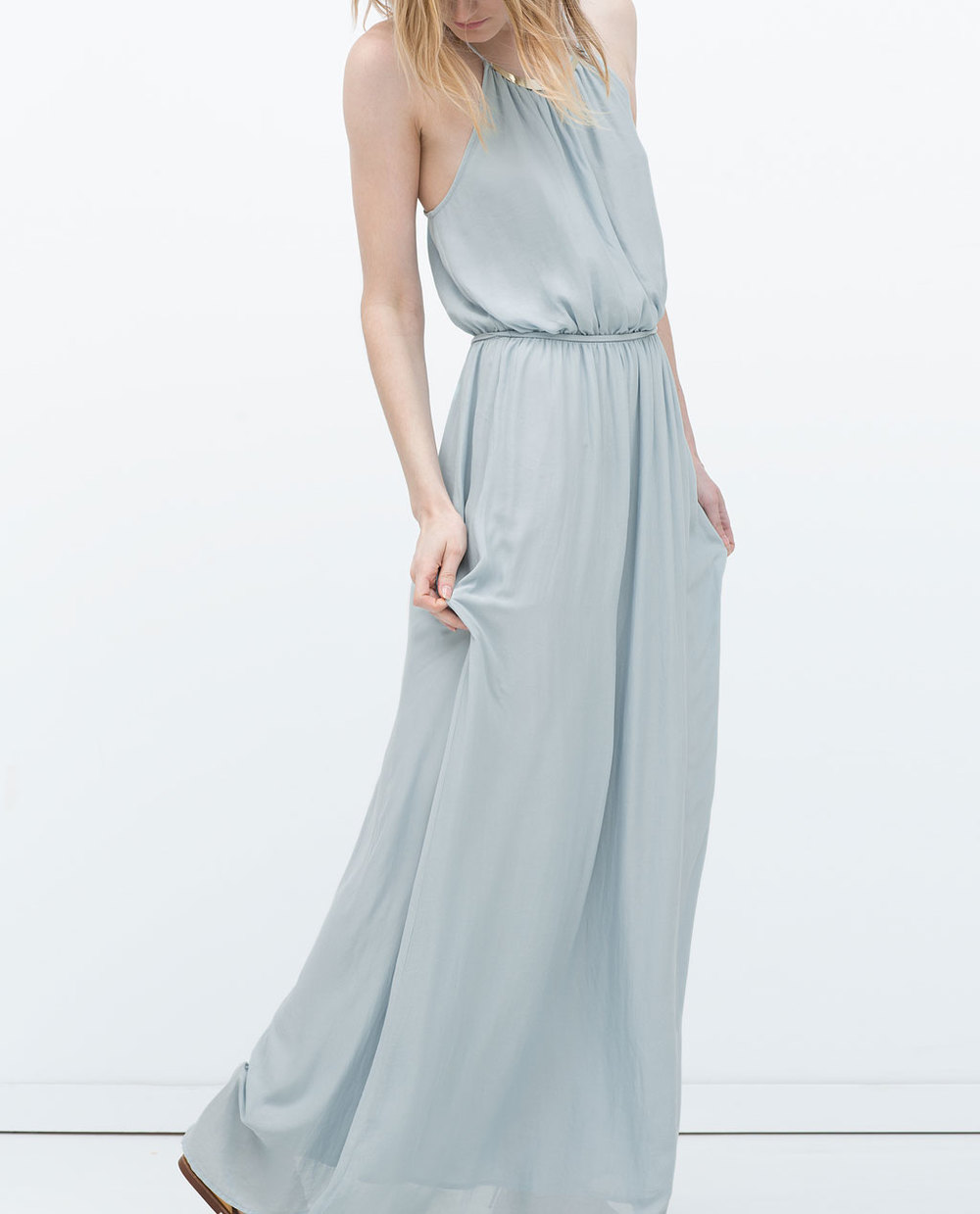 LONG APPLIQUE NECKLINE MAXI 49.99 USD