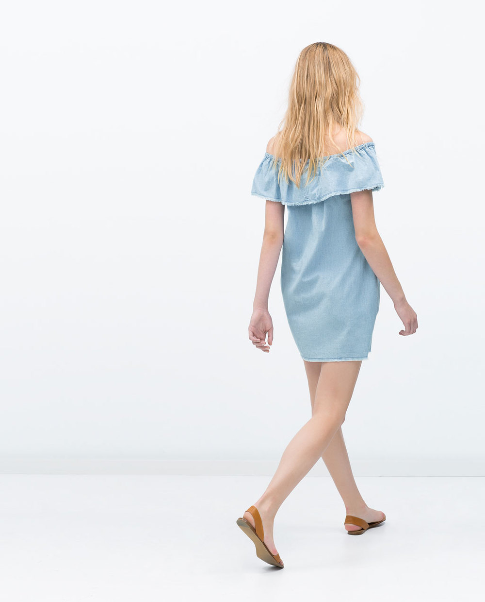 CHAMBRAY DRESS 35.99 USD