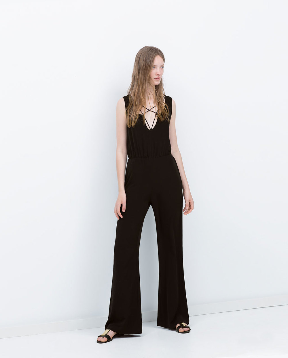CROSSED STRAPPED JUMPSUIT 49.99 USD