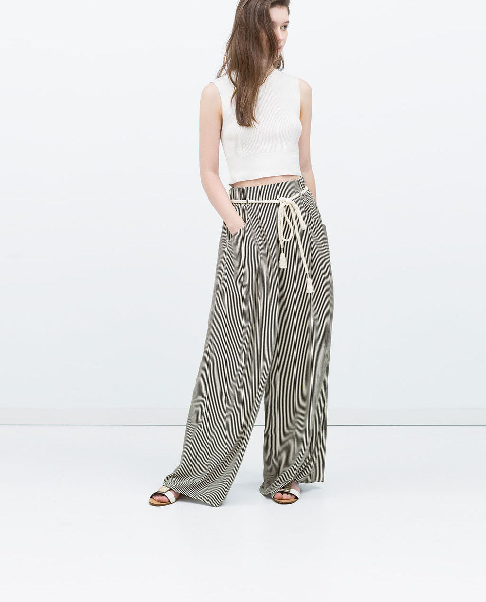 STRIPPED TROUSER 25.99 USD