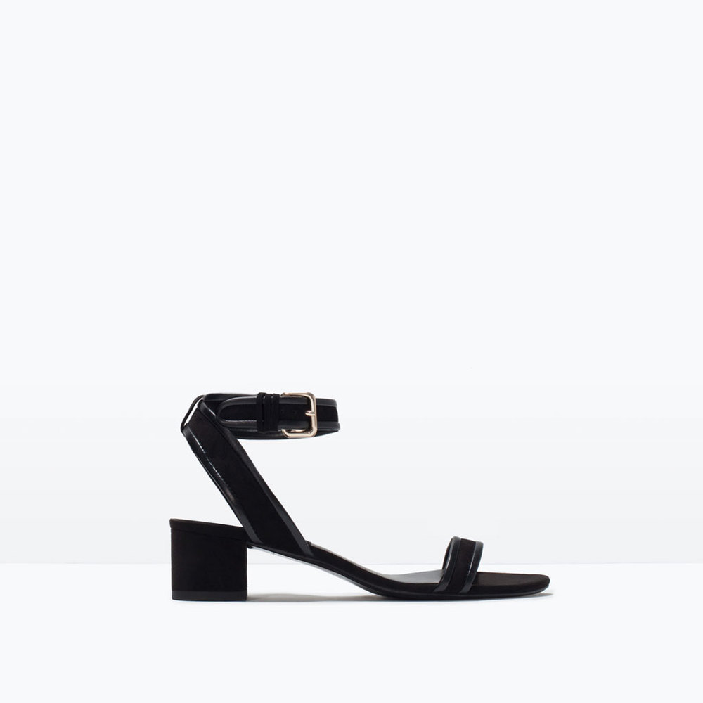 BLOCK HEEL STRAPPY SANDAL 49.99 USD