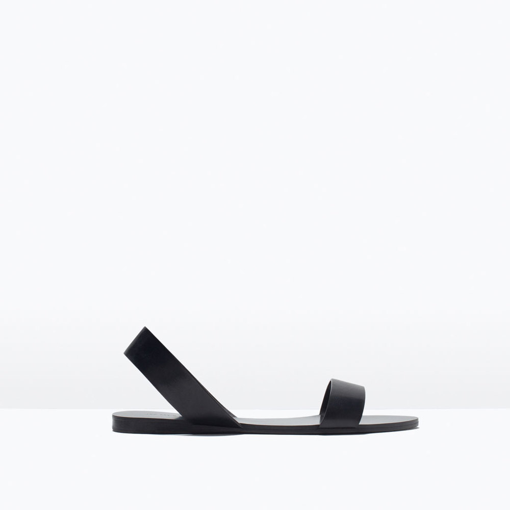 FLAT LEATHER SANDAL 29.99 USD