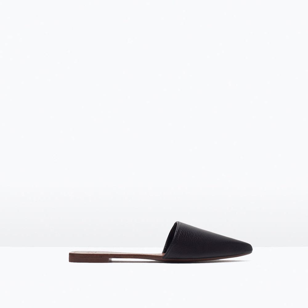 FLAT LEATHER SLIPPERS 49.99 USD
