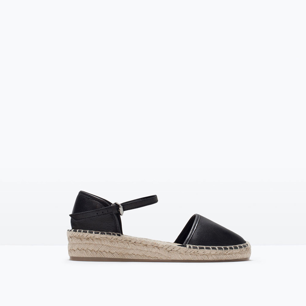 LEATHER D'ORSAY ESPADRILLES 49.99 USD