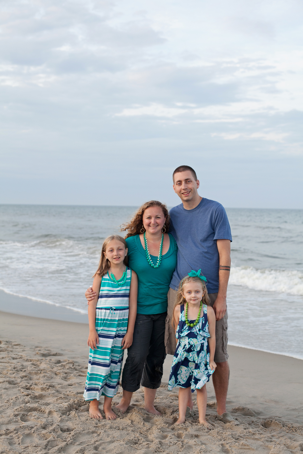 Our family on the shores of Corolla, NC in 2013