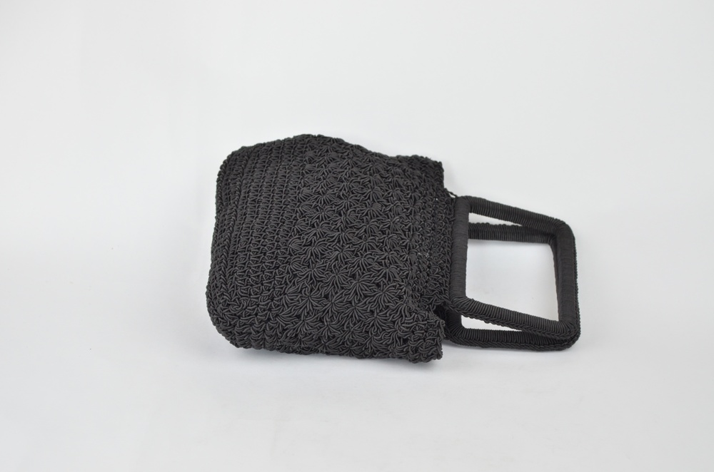 17. Vintage Black Woven Evening Bag