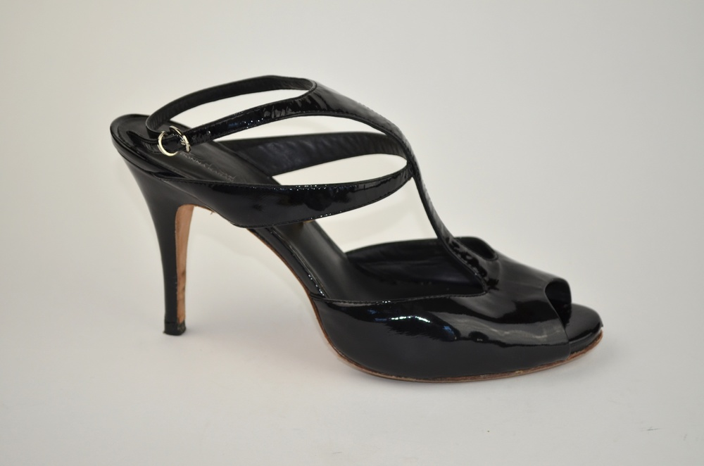 28. DKNY Patent Leather Platform