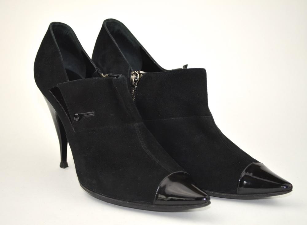 35. Giorgio Armani Suede & Patent Boot