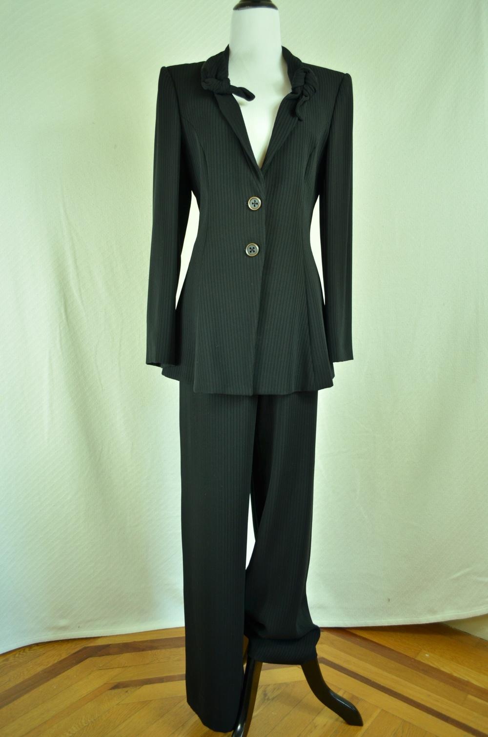 46. Giorgio Armani Tie-Front Suit