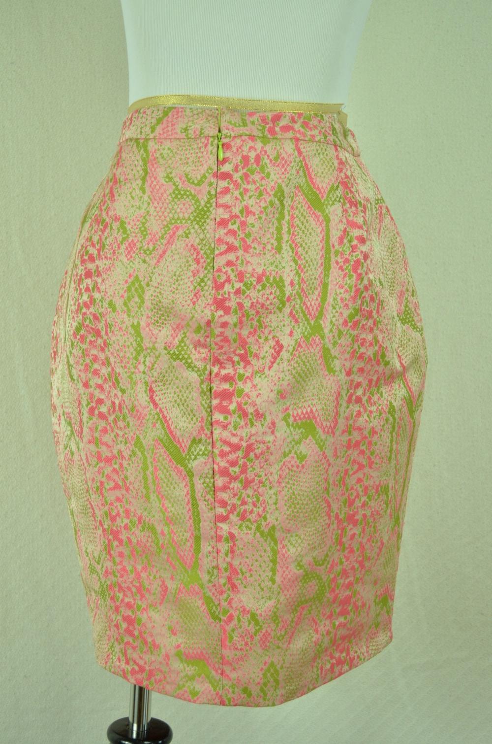 52. DKNY Lizard Print Skirt