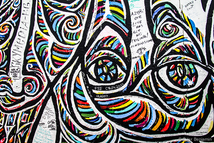 Berlin Wall - Colorful Face by Tyler Benjamin
