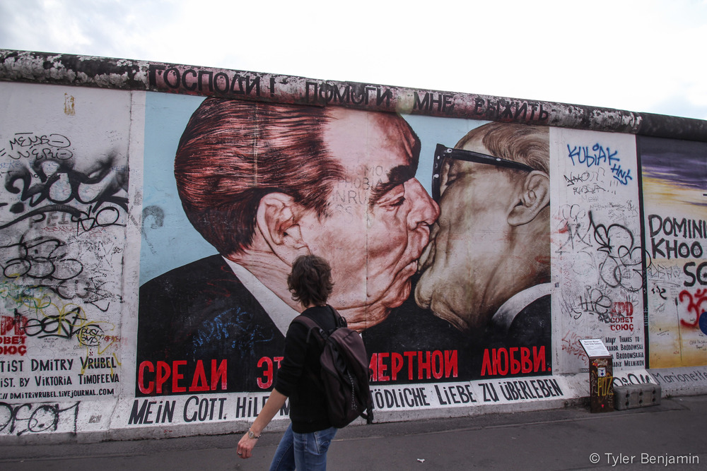 Berlin Wall - The Fraternal Kiss by Tyler Benjamin