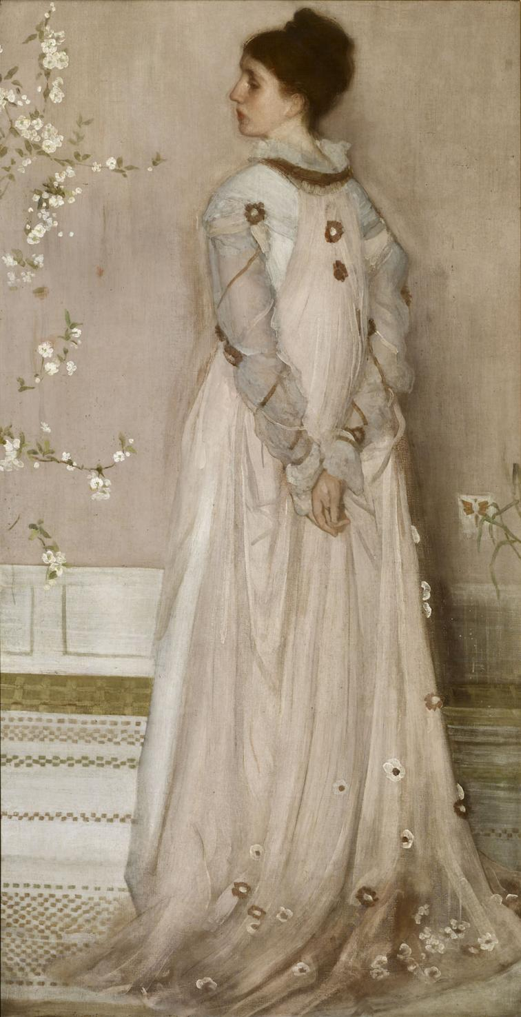 "James McNeill Whistler,  ""Symphony in Flesh Colour and Pink: Portrait of Mrs. Frances Leyland,""  1871-74  The Frick Collection  Photo © The Frick Collection"