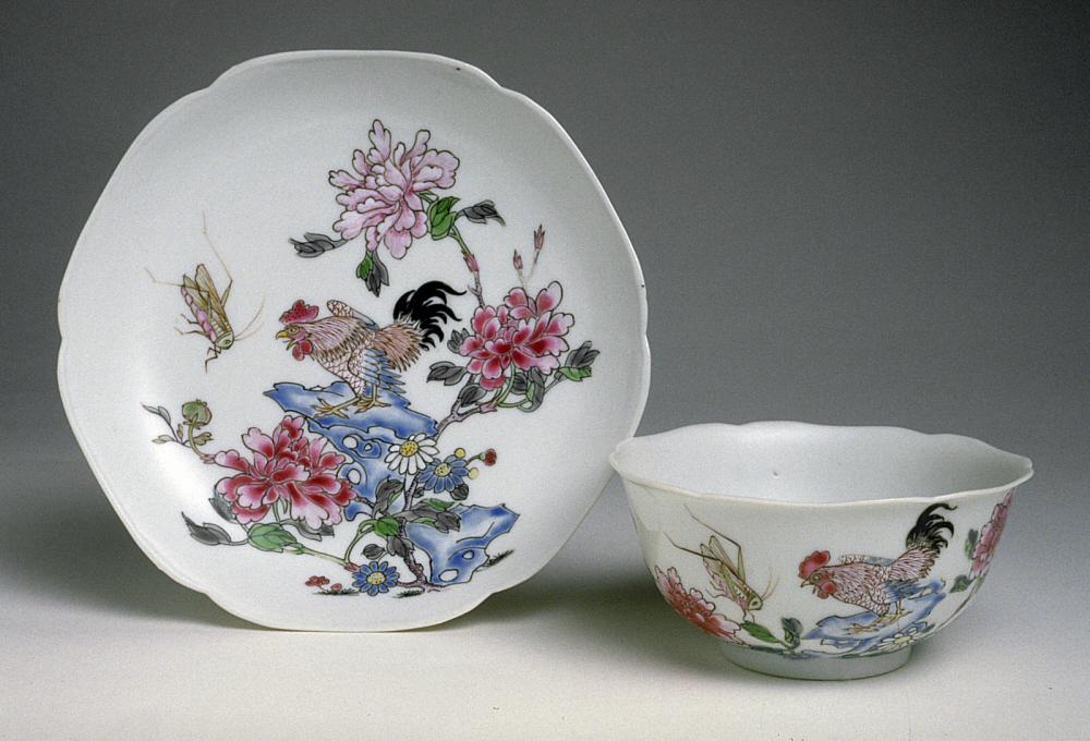 Chinese teacup and dish