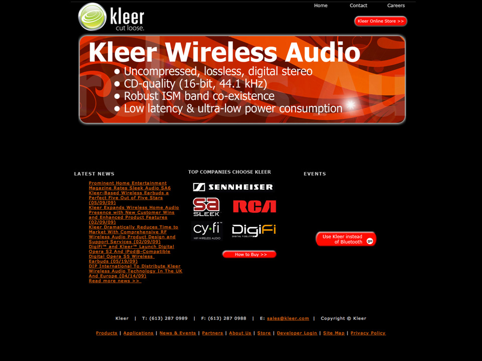 Kleer.com. This is how the site looked before we took over the rebrand. This site had many problems. It was off-brand, had poor navigation and was not consumer friendly.