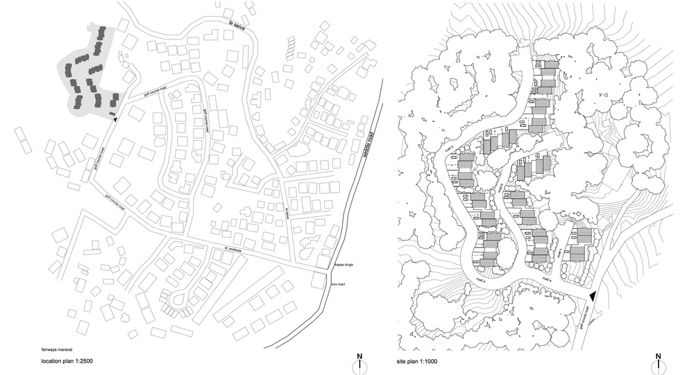 fairways heights : maraval - location + site plan