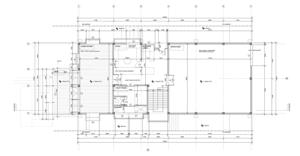 splice studio : ground floor plan