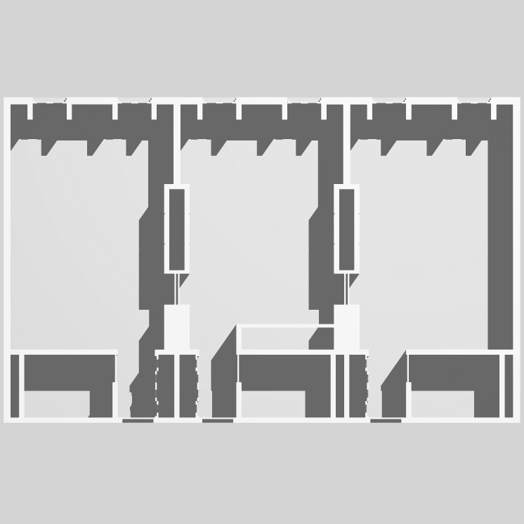 module plan : single room - two room suite